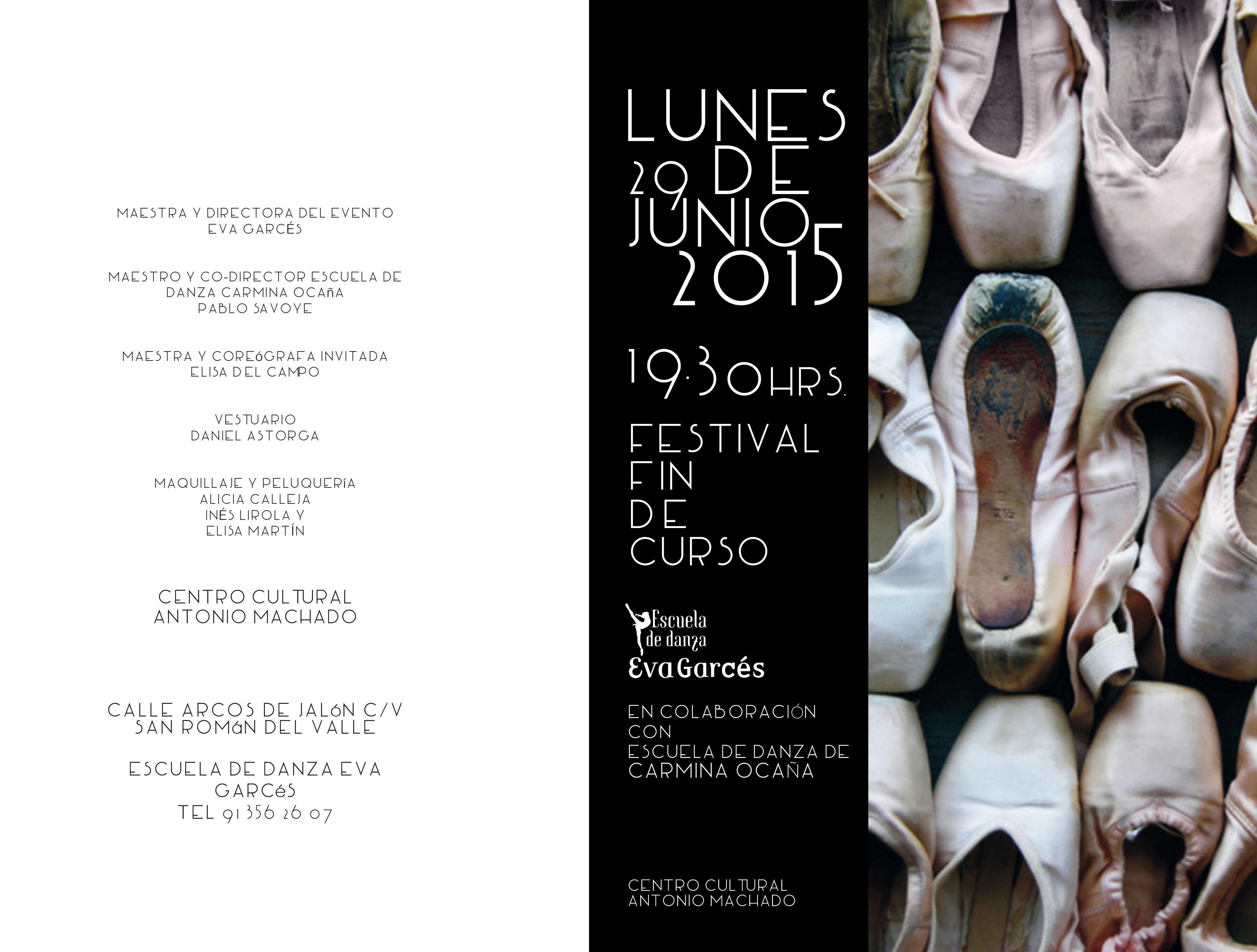 Programa Festival 2015 - Escuela de Danza Eva Garcés